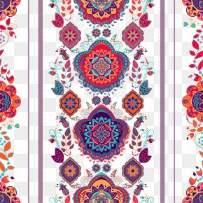 Exquisite National Carpet Pattern Vector - Textile Embroidery Euclidean Vector PNG