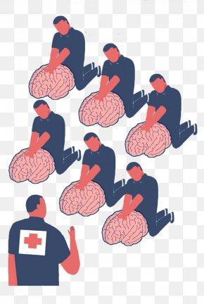 Cartoon Brain First Aid - Mental Health First Aid Psychological First Aid World Mental Health Day PNG