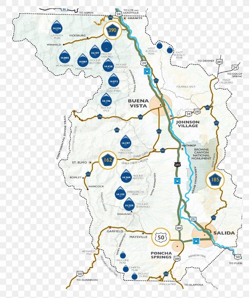 Buena Vista Salida County Scenic Route Map, PNG, 2708x3250px ...