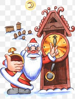Santa Claus - Greeting Santa Claus Christmas Ded Moroz Morning PNG