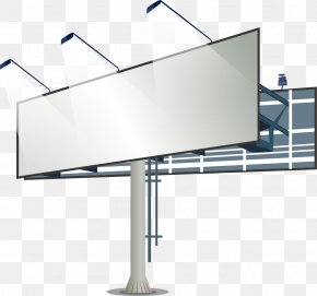 Billboard Display Card Vector Material - Billboard Advertising Lightbox PNG