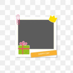 Green Gift Box Frame - Picture Frame PNG