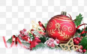 Happy New Year - Santa Claus Christmas And Holiday Season House Gift PNG