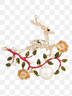 CHINESE CLOTH - Brooch Jewellery Anklet Christmas Ornament Deer PNG