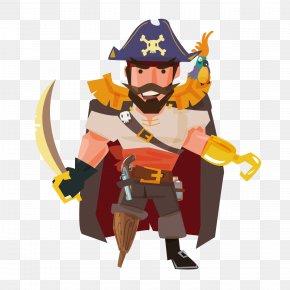 Cartoon Pirates - Piracy Cartoon Illustration PNG