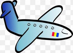 Cartoon Plane - Airplane Aircraft Black And White Cartoon Clip Art PNG