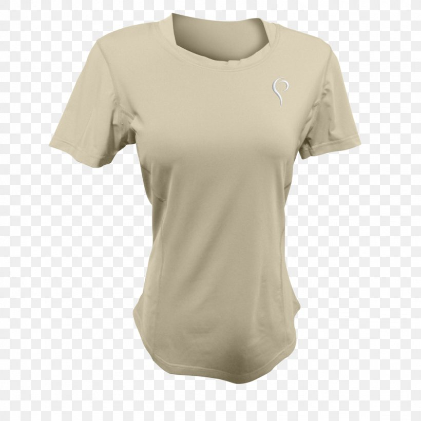 T-shirt Sleeve Clothing Neckline, PNG, 1024x1024px, Tshirt, Active Shirt, Beige, Clothing, Cotton Download Free