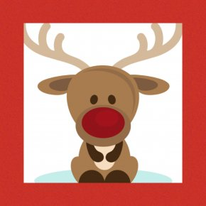 Nose - Rudolph Reindeer Santa Claus Candy Cane Christmas PNG