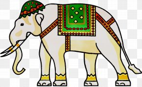 Indian Elephant Clip Art Vector Graphics Image PNG