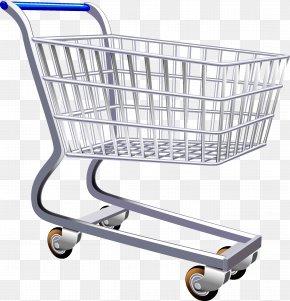 Supermarket Shopping Cart - Shopping Cart Supermarket Clip Art PNG