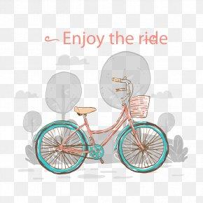 Lovely Hand-painted Vintage Bicycle - Bicycle Wheel Bicycle Frame Hybrid Bicycle Road Bicycle PNG