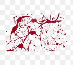 Red Blood - Blood Brush Drawing Splatter Film PNG