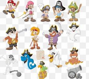 Cartoon Pirate Material - Cartoon Piracy Royalty-free Clip Art PNG