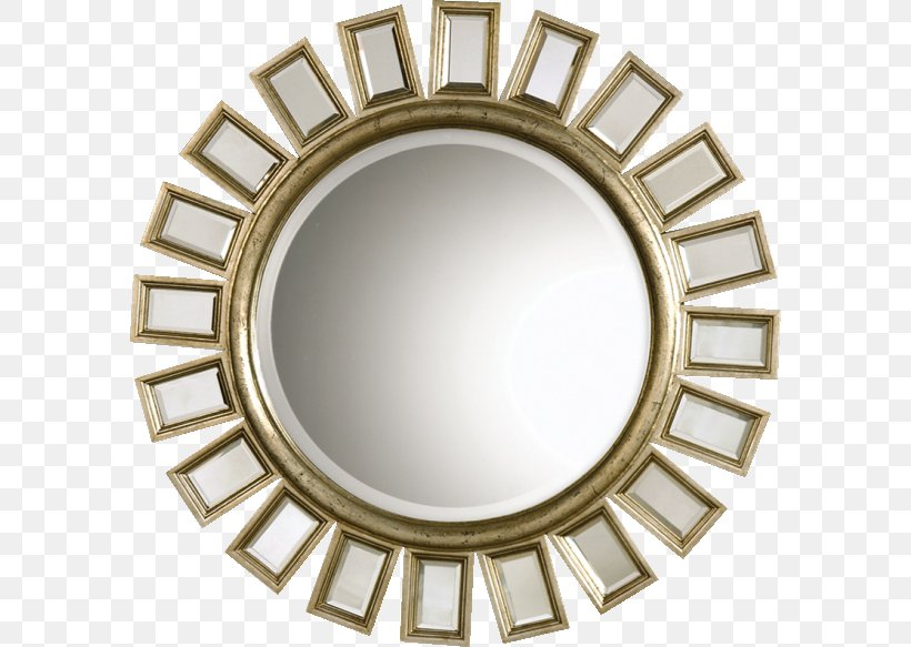 Light Mirror Silver Gold Wall Png 586x583px Light Brass Decor Electric Light Electricity Download Free