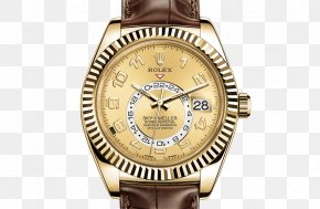 Rolex - Rolex Sky-Dweller Watch Movement Colored Gold PNG