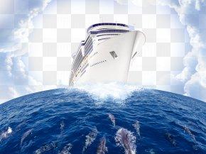 Atmosphere Plus Ocean Ship Background - Ocean Wind Wave PNG