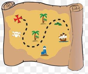 Pirate Map - Treasure Map Buried Treasure Piracy Clip Art PNG