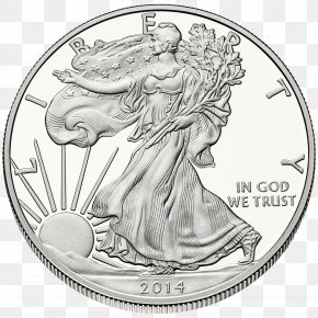 Silver Coin - American Silver Eagle United States Mint Bullion Coin PNG