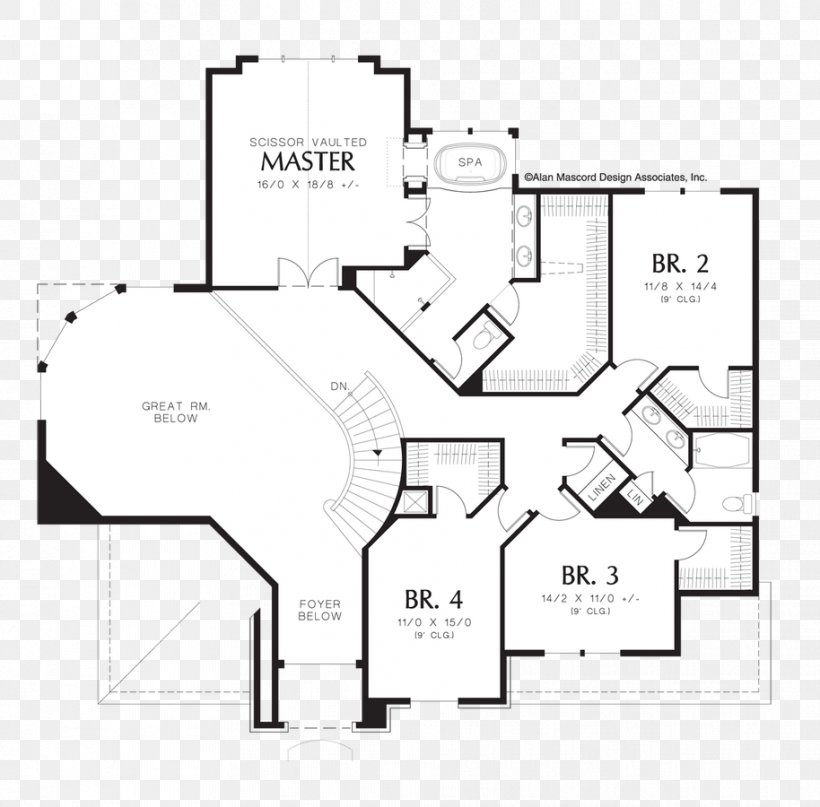 Floor Plan House Plan Great Room, PNG