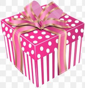 Cute Pink Gift Box Transparent Clip Art Image - Gift Box Clip Art PNG