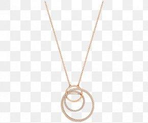 Swarovski Jewelry Women Gold Necklace Polycyclic - Necklace Pendant Chain Body Piercing Jewellery PNG