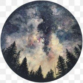 Night Sky - Art Watercolor Painting Drawing Sketchbook PNG
