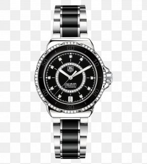 Tiger Watch Black Female Form TAG Heuer Watches - Formula One Automatic Watch TAG Heuer Diamond PNG
