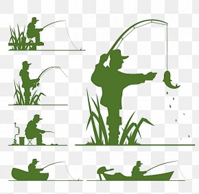 Fishing Silhouette - Fishing Silhouette Clip Art PNG