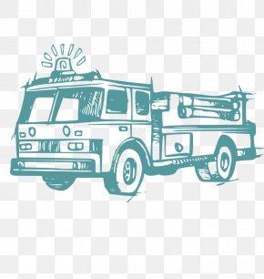 Firefighter - Fire Engine Firefighter Fire Department Sticker Decal PNG