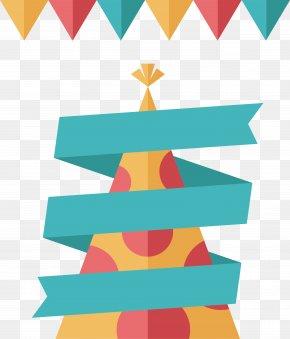 Spiral Ribbon Title Box - Ribbon Birthday Clip Art PNG