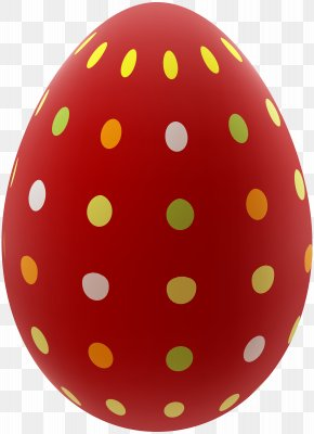 Easter Egg Red Clip Art Image - Red Easter Egg Clip Art PNG