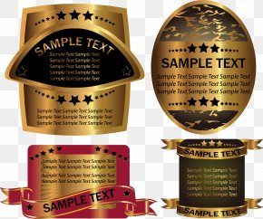 Gold Bottle Stickers Vector - Euclidean Vector Label Bottle PNG