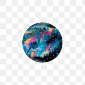 Colour Planet - Watercolor Painting Watercolor Landscape Tattoo Galaxy Art PNG