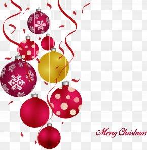 Vector Cartoon Christmas Balls - Christmas Ornament Clip Art PNG