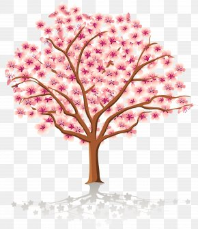Transparent Spring Tree Clipart - Spring Tree Blossom Clip Art PNG