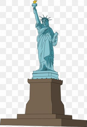 Monument Cliparts - Statue Of Liberty Drawing Clip Art PNG