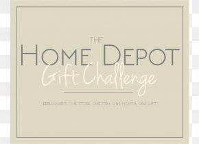 Home Depot - Paper The Home Depot Art Font PNG