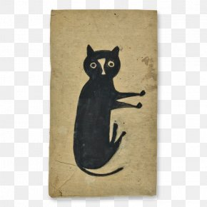 Cat - Black Cat Untitled (Man In Blue Pants) Bill Traylor Drawings: From The Collection Of Joseph H. Wilkinson And An Anonymous Chicago Collector Artist PNG