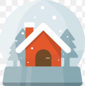 Red House Crystal Ball - Crystal Ball Christmas PNG