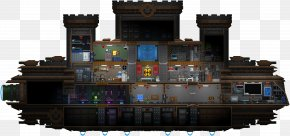 Spaceship Interior - Starbound Mother Ship Chucklefish Boat PNG