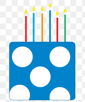 Polka Dot Birthday Candle - Birthday Candle PNG