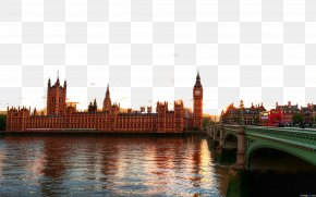 London Big Ben Three - Palace Of Westminster Big Ben Parliament Square River Thames City Of London PNG