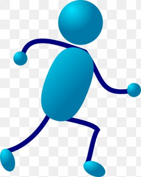 Moving Running Cliparts - Stick Figure Running Clip Art PNG
