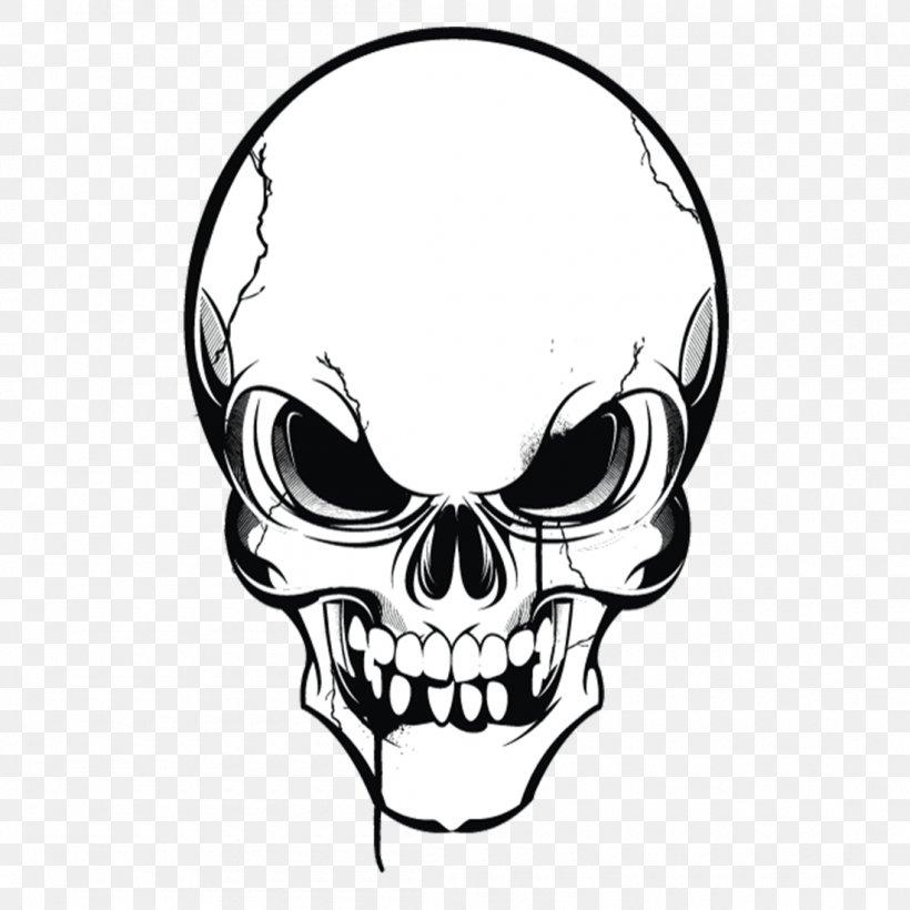 Human Skull Symbolism Drawing Clip Art, PNG, 1100x1100px