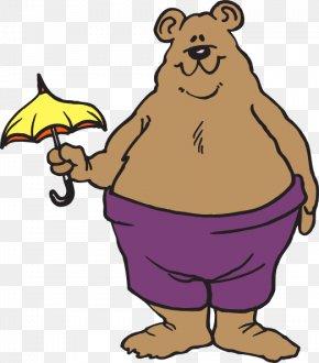 Holding Clipart - American Black Bear Umbrella Clip Art PNG