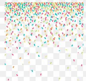 Colored Confetti Background Vector Material - Confetti Clip Art PNG