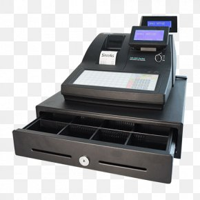 Computer - Cash Register Point Of Sale Computer Money Barcode Scanners PNG