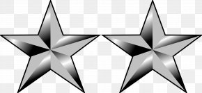 Silver Star - Major General General Of The Army Two-star Rank PNG