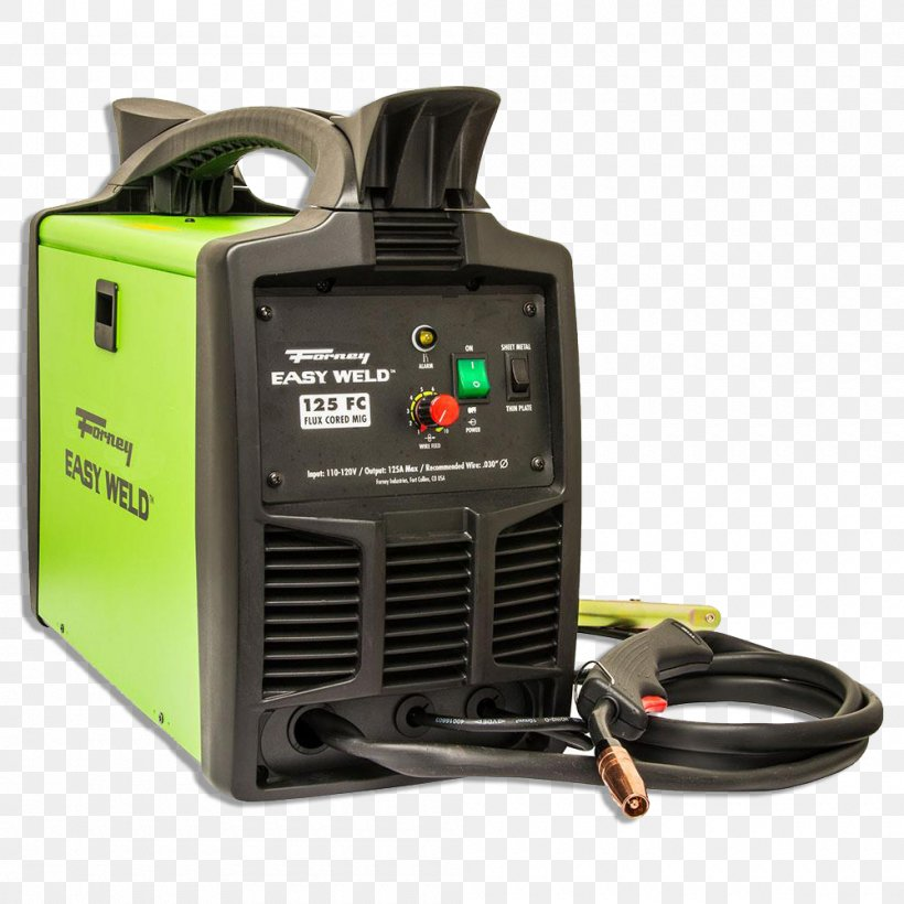 Gas Metal Arc Welding Flux Cored Arc Welding Forney Easy Weld 125 Fc Mig Machine Png