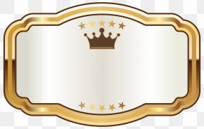 Seal - Champagne Gold Label Clip Art PNG